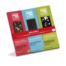Estuche regalo con tres tabletas de chocolate con textura 50 g - BIO