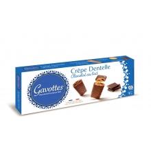 Crepes finos y crujientes recubiertos de chocolate con leche 90 g