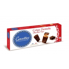 Crepes finos y crujientes recubiertos de chocolate negro 90 g