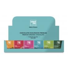 Expositor de chocolates ecológicos premium de 20 g